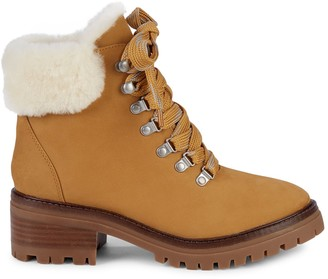 Gentle Souls Brooklyn Shearling & Waterproof Suede Outdoor Boots