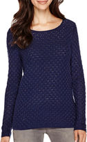Liz Claiborne Long-Sleeve Boatneck Sweater