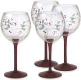 Pfaltzgraff Winterberry Set of 4 Wine Goblets