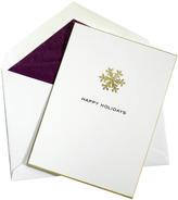 Mrs. John L. Strong Snowflake Happy Holidays Card