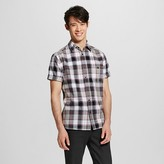 Men's Short Sleeve Shirt Black Plaid - Mossimo Supply Co.