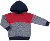 Mayoral Hooded Colorblock Sweater, Blue/Red