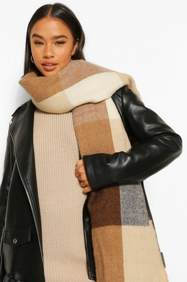 boohoo Colour Block Panelled Oversized Scarf