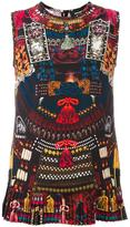 DSQUARED2 'Samurai' print tank top - women - Silk - 40