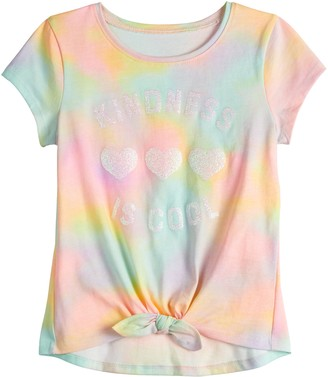 Girls 4-12 Jumping Beans Knot-Front Tee