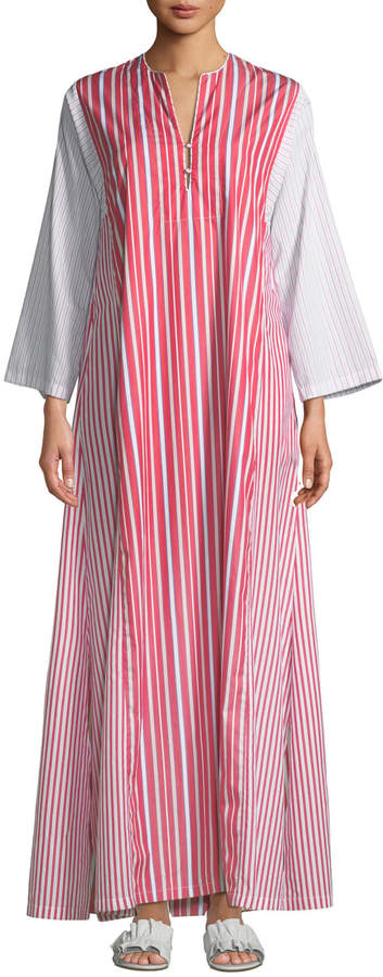 Evi Grintela Novella Striped Poplin Maxi Dress