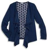 Splendid Crochet Back Knit Cardigan