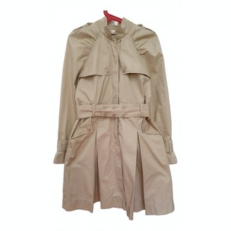 DKNY Beige Cotton Trench Coat for Women