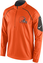 Nike Men's Cleveland Browns Alpha Fly Rush Quarter-Zip Jacket