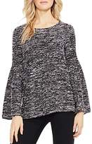 Vince Camuto Bell Sleeve Marled Knit Top