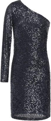 Naeem Khan One-shoulder Sequined Tulle Mini Dress