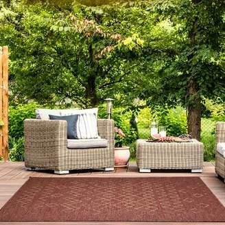 "Tubbs Millwood Pines Dust Brown Indoor/Outdoor Area Rug Millwood Pines Rug Size: Rectangle 5'3"" x 7'6"""