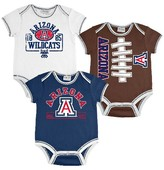 NCAA Arizona Wildcats Newborn/Infant Boys 3pk Body Suit
