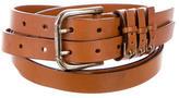 Dolce & Gabbana Dual Leather Waist Belt