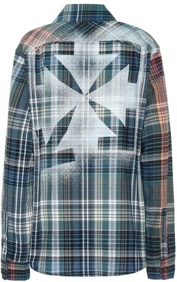 Off-White Checked cotton-flannel shirt