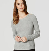 LOFT Shoulder Button Sweater
