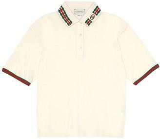 Gucci Kids Cotton-piquA polo shirt