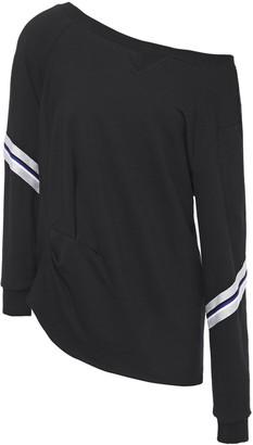 Bailey 44 One-shoulder Striped Jersey-fleece Sweatshirt