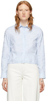 Off-White Off White Blue Waves Cropped Shirt