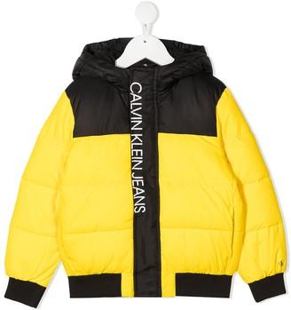 Calvin Klein Kids Branded Puffer Coat