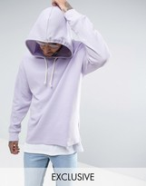 Puma Waffle Oversized Hoodie In Purple Exclusive to ASOS