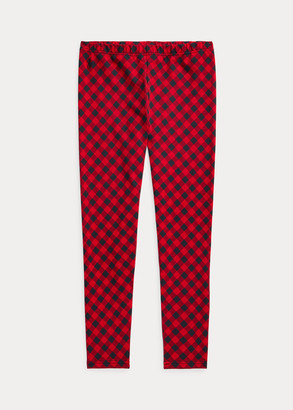 Ralph Lauren Buffalo Check Stretch Jersey Legging