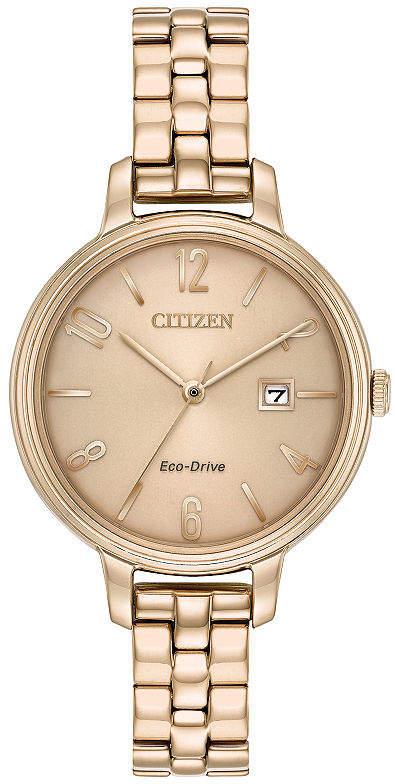 Citizen Womens Rose Goldtone Bracelet Watch-Ew2443-55x