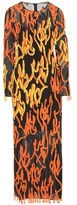Acne Studios Elja Flame orange and black silk dress
