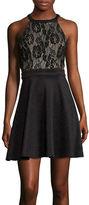 Speechless Sleeveless Lace Cutout Party Dress