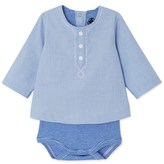 Petit Bateau Baby boys long-sleeve blouse bodysuit