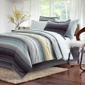 Brown & Grey Strata Dark Charcoal 8-piece Bed-In-Bag, Queen Bedding