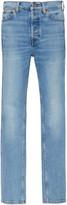 RE/DONE Double Needle Mid-Rise Slim-Leg Jeans
