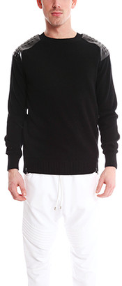 Pierre Balmain Zip Detail Studded Sweater