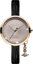 Vivienne Westwood VV139RSBK Time Machine stainless steel and leather watch