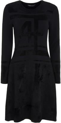 Alberta Ferretti Knit And Velvet Dress