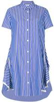 Sacai zipped peplum shirt dress