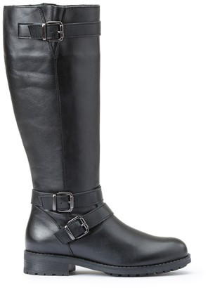 La Redoute Collections Leather Biker Boots