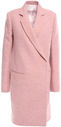 Victoria Beckham Double-breasted Melange Brushed Wool-felt Coat