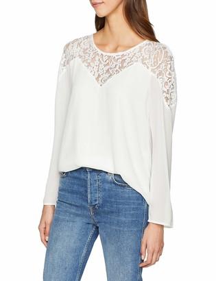 VILA CLOTHES Women's Vibekida Lace L/s Top-Noos Vest