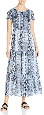 Design History Snake Print Tiered Maxi Dress