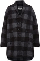 Etoile Isabel Marant Anthracite Check Gino Blanket Coat