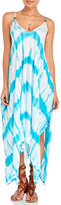 Hawaiian Tropic Tie-Dye Maxi Dress