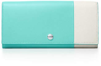 Tiffany & Co. Color Block continental flap wallet in grain calfskin leather