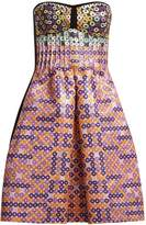 Mary Katrantzou Metallic circle-jacquard dress