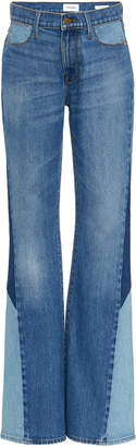 Frame Le High Patchwork Flared Jeans