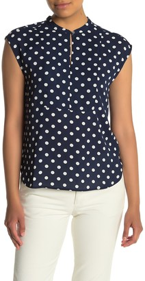 J.Crew Cap Sleeve Printed Jewel Neck Blouse