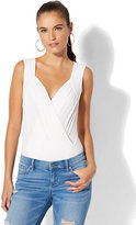 New York & Co. Wrap-Front Bodysuit