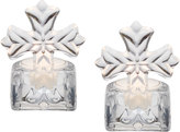 Mikasa Rejoice Set of 2 Glass Cross Tealight Holders