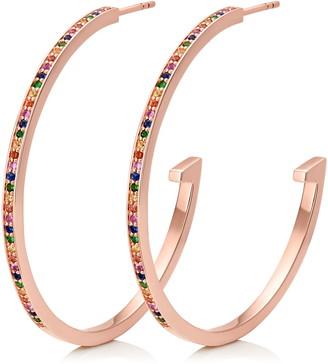Monica Vinader Large Skinny Gemstone Huggie Hoop Earrings