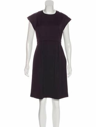 Celine Knee-Length Wool Dress Purple